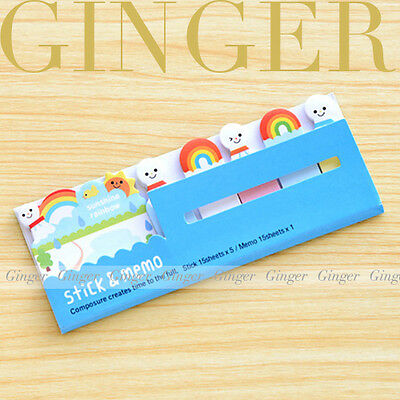 Rainbow Sunshine 90 Pages Sticker Post It Bookmark Memo Marker Sticky Notes