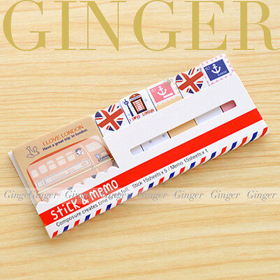 London Travel Joy 90 Pages Sticker Post It Bookmark Memo Marker Sticky Notes