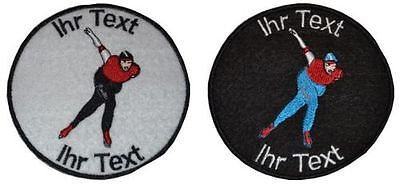 speed scating skating patch with your text 10cm embroidered logo (421)