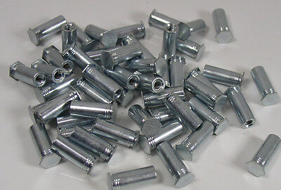 (50) Penn BSO-632-18ZI Blind Threaded Standoff #6-32 Zinc Plated Steel Lot of 50