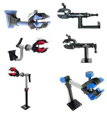 Wall Or Bench Mounted Bike Bicycle Maintenance Repair Work Stand Mountain Tool