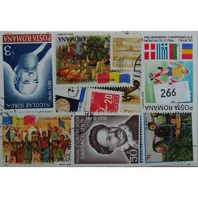 Romania. 50 Stamps, All Different (266)