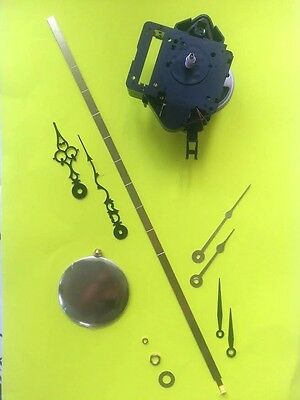 SHORT Shaft Seiko Dual Chime Pendulum Quartz Clock Movement- w/3 Hands! 121