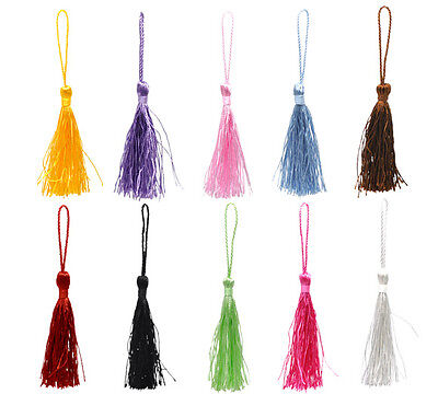 Silk Tassels-Ideal For Cardmaking,scrapbooking,sewing,crafts, 12-14Cm