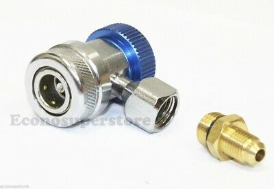 "1/4"" SAE Male Flare Low Automotive Quick Coupler Connectors Adapter HVAC R134a"
