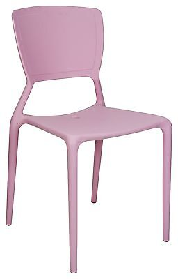 New CHAIR Replica Viento Stackable Cafe Dining Chairs COTTON CANDY Restaurant
