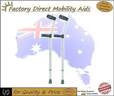 Elbow Crutches Forearm Crutches Small Medium Large Aluminium RRP $69 pair!