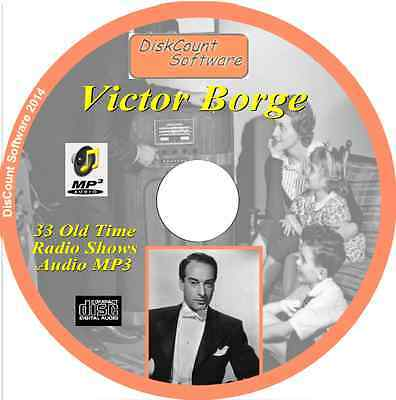 Victor Borge CD 33 OTR Comedy Old Time Radio Episodes Audio MP3