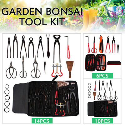 Bonsai Tools Kit Cutter Scissor Garden Plant Trimming Equipment Set 6 10 14 pcs