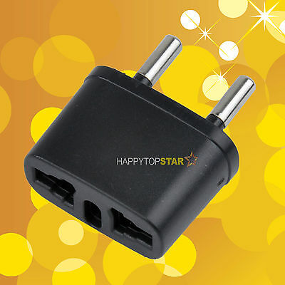 Travel Power Plug Adapter Converter US AU CA UK Italy to Russia Brazil Spain 4mm