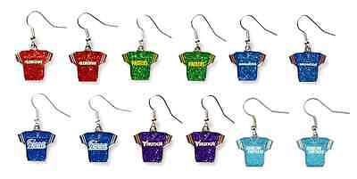 NFL Glitter Jersey Team Dangle Earrings - Pick Your Team