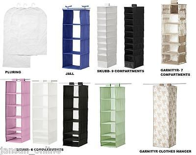 Ikea- Hanging Clothes Organiser- Wardrope Storage-Various Types, Colours, Sizes