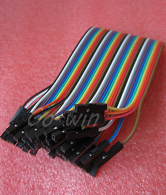 40PCS Dupont Wire Color Connector Cable 20 CM 2.54mm 1P-1P For Arduino