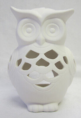 Owl Ceramic Tea Light Candle Holder Home Lighting Interior Decor Accessory BC242