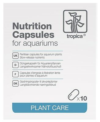 Tropica Nutrition Capsules for Healthy and Vibrant Aquatic Plants. (10 capsules)