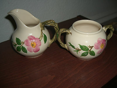 VINTAGE FRANCISCAN DESERT ROSE 10oz CREAMER & SUGAR BOWL (NO LID)