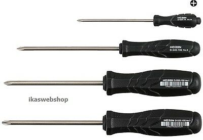 HOZAN JIS-4 JIS/Cross Point Screwdriver Set (4pc/set)