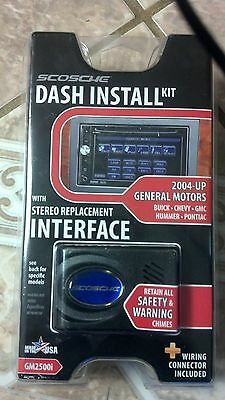 Scosche Dash Install Kit 2004-10 General Motors W Stereo Replacement Interface