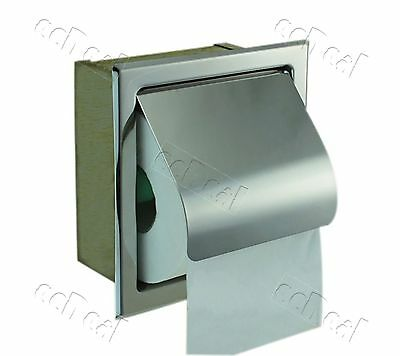 1 pc Recessed Toilet Paper Tissue Towel Roll Paper Holder - Silver