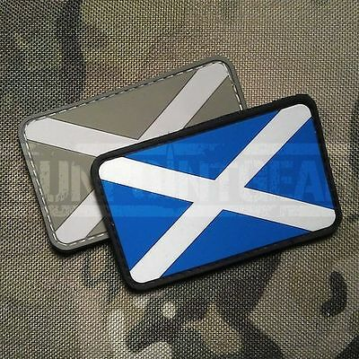 Gun Point Gear St Andrew's Cross Scottish Saltire Flag PVC Velcro Patch Scotland