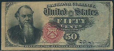 Fr1376 50¢ 4Th Issue Fractional Currency Vf Br5926