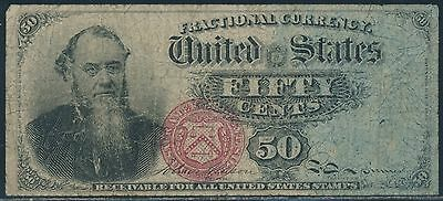 Fr1376 50¢ 4Th Issue Fractional Currency Vf+ Br5935