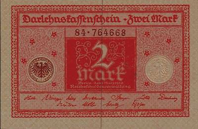 1920 Germany 2 Mark Banknote Uncirculated