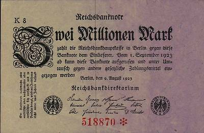 1923 Germany Weimar Republic 2.000.000 Mark Banknote