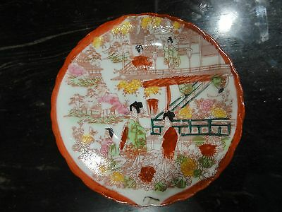 Vintage  Small Porcelain Plates Hand Painted Japan Marked