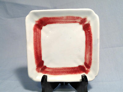 """GUPPY'S of California Western Ware Drip Glaze 6"""" BREAD and BUTTER PLATE , 1940's"""