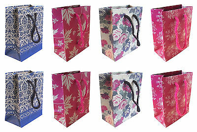 20 Kraft Paper Carrier Wedding Party Gift & Jewellery Candy Shopping Bag 11x14cm