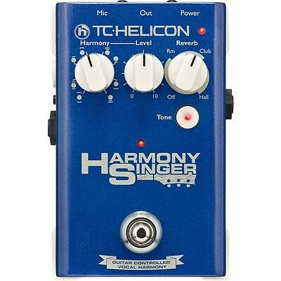 TC Helicon Harmony Singer Vocal Effects Pedal FX Stomp Box Tone Reverb Unit