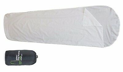 Yellowstone Single Adult Mummy Sleeping Bag Liner Cover In Carry Bag SB011