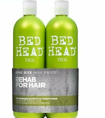 TIGI Extreme Bed Head Re-Energize 750mL Duo Pack *Shampoo & Conditioner*