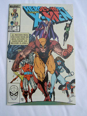 X-MEN: HEROES FOR HOPE. MARVEL 1-SHOT. BERNI WRIGHTSON, JIM STARLIN etc 1985