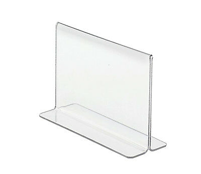 """6""""W x 4""""H Double-sided, Bottom Loading Table Sign Holder (Lot of 50)"""