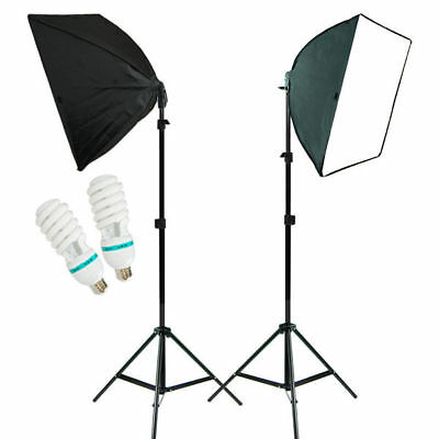 2PCS Photo Studio Lighting Softbox Photography Equipment Studio Light Box Stand