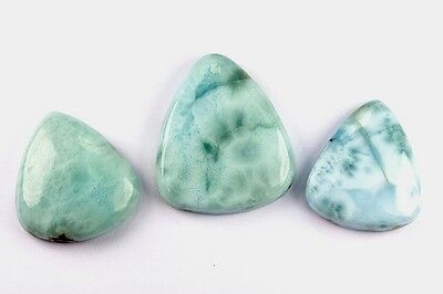 "GemsVillage 103 Ct. Fantastic ""snake skin"" on those genuine Larimar (Pectolite)"