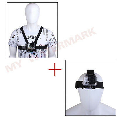 Accessories Chest Harness Mount+Head Belt Strap for GoPro HD Hero 2 3 3+ 4 1