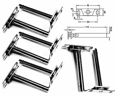 8 Pcs 4 Pairs Concealed Floating Shelf Support Brackets Steel Strong Install Set