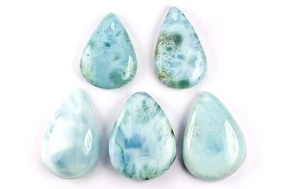 "GemsVillage 162 Ct. Fantastic ""snake skin"" on those genuine Larimar (Pectolite)"