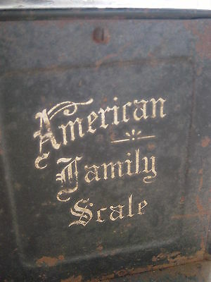 """ANTIQUE WEIGHT SCALE """"AMERICAN FAMILY SCALE"""" PATENTED 10/25/1898  **WORKS**"""