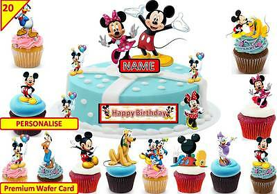 Mickey Mouse Clubhouse Cup Cake 3D Scene Toppers Birthday Wafer Edible STAND UP