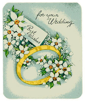 Vintage Original Unused Greeting Card For Your Wedding Best Wishes