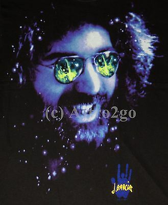 SPACE SHADES-Liquid Blue Jerry Garcia Grateful Dead Space Astronomy Tshirt M-XXL