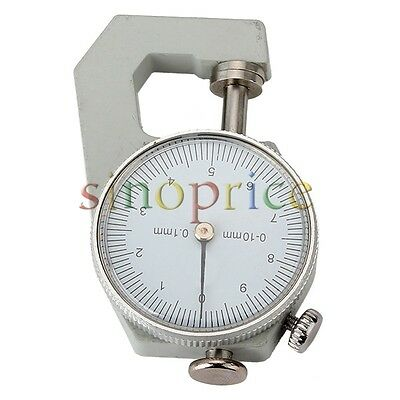 Range 0 to 10mm Dial Thickness Gauge Measurement Tool 0.1mm Accuracy
