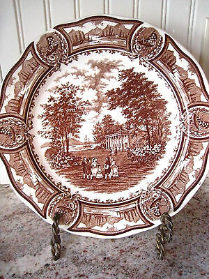 "Vintage J & G Meakin England 'Americana' Stylehouse Ironstone  10"" Dinner Plate"