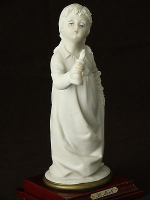 Cute Capodimonte Girl with Candle Figurine  by Bruno Merli