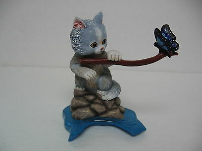 """Cat Figurine 2009 Hamilton Collection Curious Kitty Series 5"""" Tall Ex. Condition"""