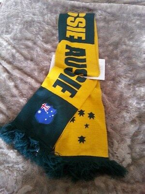 Genuine Licensed Socceroos Scarf Collectors From 2010 Fifa World Cup  - New!
